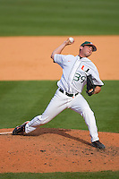 Relief pitcher Michael Rudman #39 of the Miami Hurricanes in action versus the Florida State Seminoles at Durham Bulls Athletic Park May 21, 2009 in Durham, North Carolina.  (Photo by Brian Westerholt / Four Seam Images)