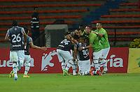 MEDELLIN - COLOMBIA -12 -07-2016: Los jugadores de Envigado FC, celebran el gol anotado a Deportivo Independiente Medellin, durante partido entre Deportivo Independiente Medellin y Envigado FC, por la fecha 3 de la Liga Aguila II 2016, en el estadio Atanasio Girardot de la ciudad de Medellin.  / The player of Envigado FC, celebrate a scored goal to Deportivo Independiente Medellin during a match between Deportivo Independiente Medellin and Envigado FC, for the date 3 of the Liga Aguila II 2016 at the Atanasio Girardot stadium in Medellin city. Photos: VizzorImage  / Leon Monsalve / Cont.