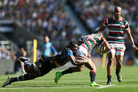 Semesa Rokoduguni of Bath Rugby puts in a tackle. The Clash, Aviva Premiership match, between Bath Rugby and Leicester Tigers on April 8, 2017 at Twickenham Stadium in London, England. Photo by: Rogan Thomson / JMP for Onside Images