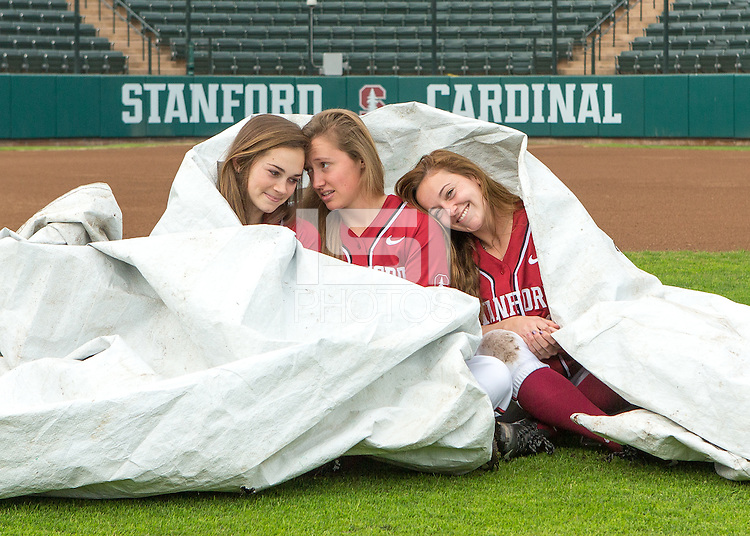 Stanford, CA - January 21, 2016.  Stanford Women's Softball Team shots.