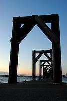 Looking down the dock, Everett, Washington.