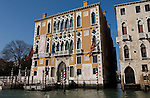 Venice-Italy - March 28, 2010 -- Palazzo Cavalli-Franchetti on Grand Canal / Canal Grande (not: Canale Grande) -- architecture -- Photo: © HorstWagner.eu