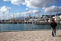 Genova: la zona dei cantieri navali Fincantieri a Sestri Ponente.