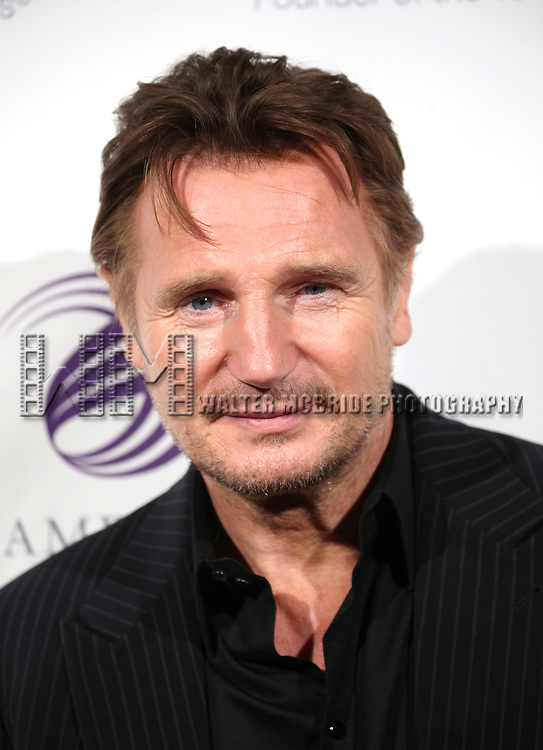 Liam Neeson attends the American Theatre Wing's annual gala at the Plaza Hotel on Monday Sept. 24, 2012 in New York.