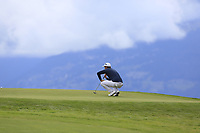 Lucas Bjerregaard (DEN) on the 7th green during Sunday's Final Round of the 2017 Omega European Masters held at Golf Club Crans-Sur-Sierre, Crans Montana, Switzerland. 10th September 2017.<br /> Picture: Eoin Clarke | Golffile<br /> <br /> <br /> All photos usage must carry mandatory copyright credit (&copy; Golffile | Eoin Clarke)