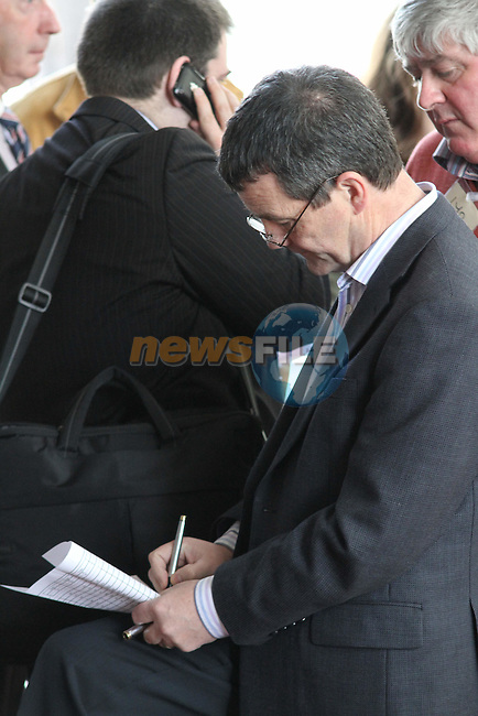 Noel Dempsey at Election 2011 Meath West count at Trim GAA Grounds...(Photo credit should read Jenny Matthews/www.newsfile.ie)....This Picture has been sent you under the conditions enclosed by:.Newsfile Ltd..The Studio,.Millmount Abbey,.Drogheda,.Co Meath..Ireland..Tel: +353(0)41-9871240.Fax: +353(0)41-9871260.GSM: +353(0)86-2500958.email: pictures@newsfile.ie.www.newsfile.ie.