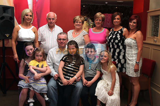 Jason Connor with his family at his 40th in Harry's...(Photo credit should read Jenny Matthews www.newsfile.ie)....This Picture has been sent you under the conditions enclosed by:.Newsfile Ltd..The Studio,.Millmount Abbey,.Drogheda,.Co Meath..Ireland..Tel: +353(0)41-9871240.Fax: +353(0)41-9871260.GSM: +353(0)86-2500958.email: pictures@newsfile.ie.www.newsfile.ie.
