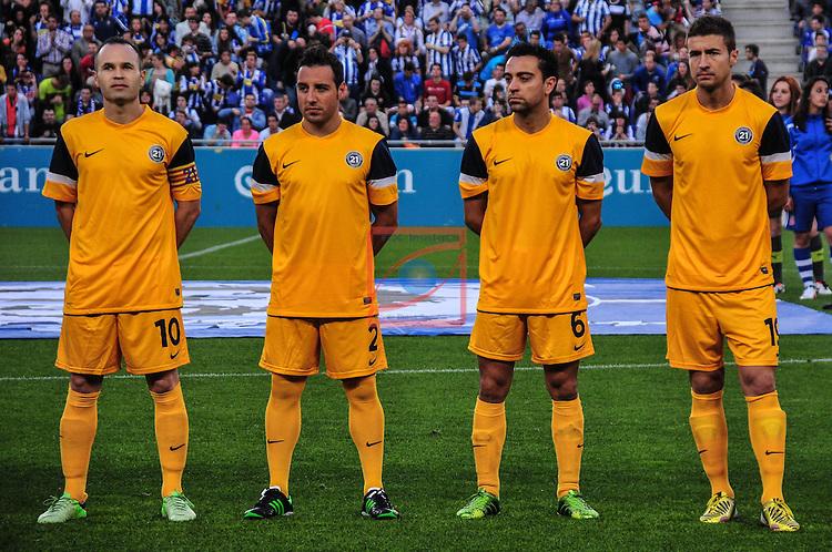 Andres Iniesta, Xavi Hernandez - Dani Jarque's tribute game (21) Organized by Andres Iniesta and RCD espanyol