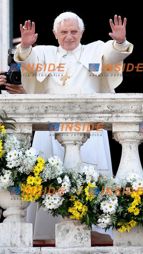 Pope Benedict XVI during his visit at the Campidoglio in Rome March 9, 2009..Papa Benedetto XVI durante la visita in Campidoglio..Foto Andrea Staccioli Insidefoto