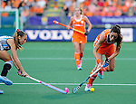 The Hague, Netherlands, June 12: Naomi van As #18 of The Netherlands fights for the ball with Florencia Habif #16 of Argentina during the field hockey semi-final match (Women) between The Netherlands and Argentina on June 12, 2014 during the World Cup 2014 at Kyocera Stadium in The Hague, Netherlands. Final score 4-0 (3-0)  (Photo by Dirk Markgraf / www.265-images.com) *** Local caption ***
