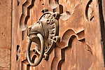 Trento Cathedral of St. Vigilius, or Duomo, doors with lions as the door knockers