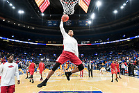 NWA Democrat-Gazette/CHARLIE KAIJO Arkansas Razorbacks forward Daniel Gafford (10) dunks during the Southeastern Conference Men's Basketball Tournament semifinals, Saturday, March 10, 2018 at Scottrade Center in St. Louis, Mo. The Tennessee Volunteers knocked off the Arkansas Razorbacks 84-66