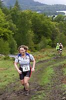 16 MAY 2009 - KESWICK,GBR - Competitors begin the climb to Walla Crag during the Keswick Mountain Festival Triathlon .(PHOTO (C) NIGEL FARROW)