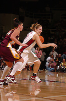 21 January 2006: Kristen Newlin during Stanford's 84-78 win against Arizona State Sun Devils at Maples Pavilion in Stanford, CA.