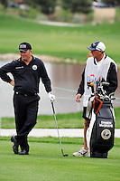 Damien McGrane with his caddy waiting to take his 3rd shot of round 3 on the 10th hole in the Open de Espana at the Centro Nacional de Golf Madrid Spain Saturday 28th April 2007 PGA European Tour...Photo NEWSFILE/Eoin Clarke.(Photo credit should read Eoin Clarke/NEWSFILE)....This Picture has been sent you under the condtions enclosed by:.Newsfile Ltd..The Studio,.Millmount Abbey,.Drogheda,.Co Meath..Ireland..Tel: +353(0)41-9871240.Fax: +353(0)41-9871260.GSM: +353(0)86-2500958.email: pictures@newsfile.ie.www.newsfile.ie.FTP: 193.120.102.198..