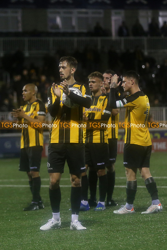 Jack Powell of Maidstone applauds the home fans at the end of the match during Maidstone United vs Oldham Athletic, Emirates FA Cup Football at the Gallagher Stadium on 1st December 2018