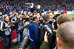 16.03.2019, VELTINS Arena, Gelsenkirchen, Deutschland, GER, 1. FBL, FC Schalke 04 vs. RB Leipzig<br /> <br /> DFL REGULATIONS PROHIBIT ANY USE OF PHOTOGRAPHS AS IMAGE SEQUENCES AND/OR QUASI-VIDEO.<br /> <br /> im Bild Huub Stevens (Trainer / Coach Schalke) im Interview / Medien<br /> <br /> Foto © nordphoto / Kurth