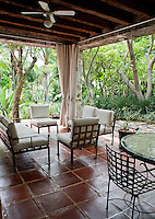 Outdoor patio of the Studio guest house. Home in Jiutepec, Morelos, Mexico. Wednesday, August 31, 2011
