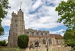 Village parish church of Saint Mary the Virgin, Cavendish, Suffolk, England, UK