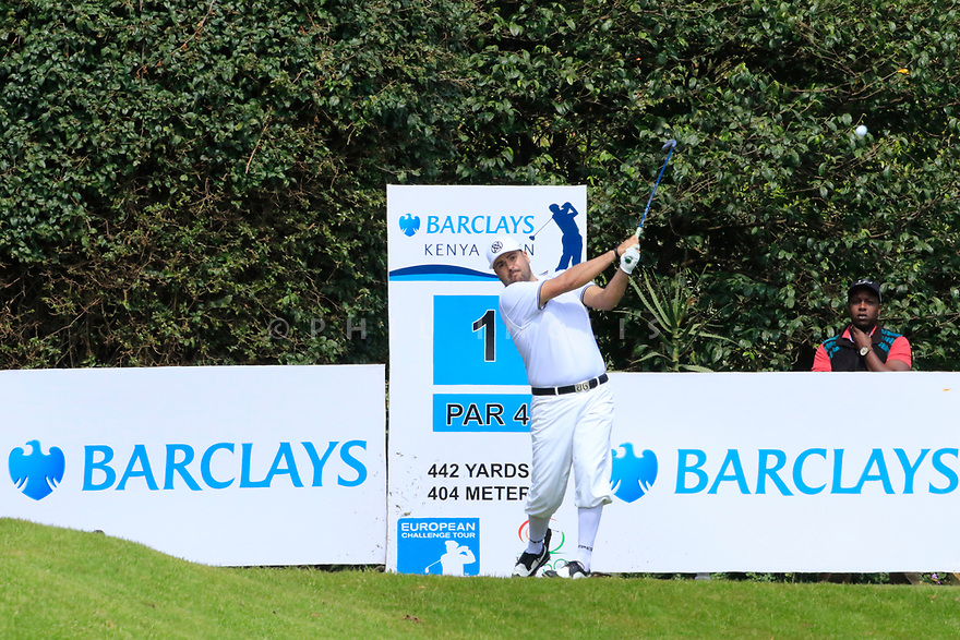 Joel Sj&ouml;holm (SWE) during the third round of the Barclays Kenya Open played at Muthaiga Golf Club, Nairobi, Kenya 22nd - 25th March 2018 (Picture Credit / Phil Inglis) 22/03/2018<br /> <br /> <br /> All photo usage must carry mandatory copyright credit (&copy; Golffile | Phil Inglis)