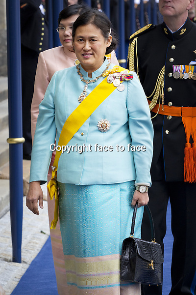 30-04-2013 Leaving of Princess Maha Chakri Sirindhorn after the inauguration/inhuldiging at the Nieuwe Kerk in Amsterdam. ....Credit: PPE/face to face..- No Rights for Netherlands -