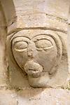 Village parish church of All Saints, Idmiston, Wiltshire, England, UK stone corbel face