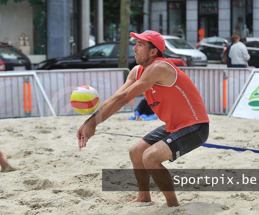 Belgian Beachvolley Tour Kortrijk : Yannick Pirali<br /> foto VDB / Bart Vandenbroucke