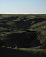 Mountain biking along the Missouri River, Montana.