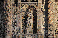 Virgin and Child marble sculpture from the Antonello Gagini school, in a niche of polychrome marble, Chiesa San Giuseppe dei Teatini (San Giuseppe dei Teatini church), 17th century, Giacomo Besio, a Genoese member of the Theatines order, Palermo, Sicily, Italy. Picture by Manuel Cohen