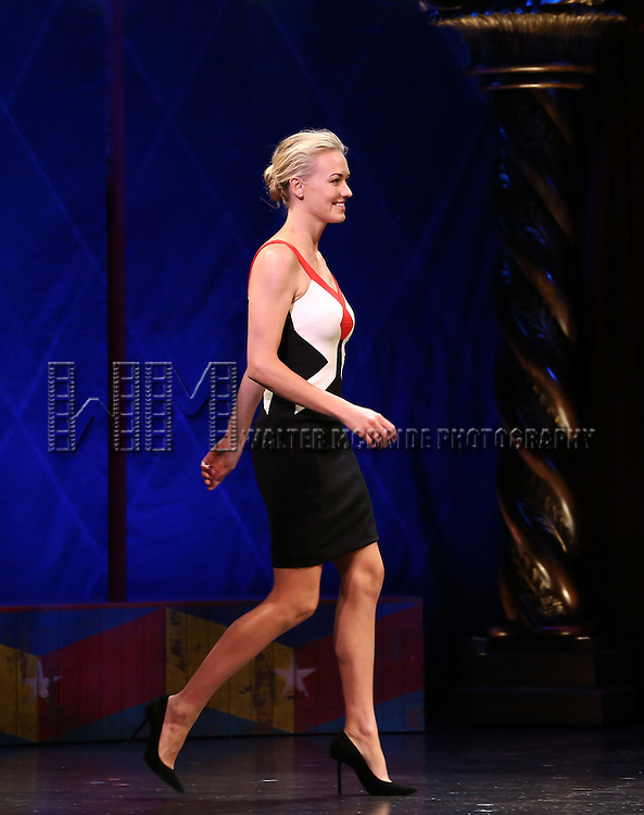 Yvonne Strahovski during the 69th Annual Theatre World Awards Presentation at the Music Box Theatre in New York City on June 03, 2013.