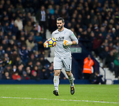 2nd December 2017, The Hawthorns, West Bromwich, England; EPL Premier League football, West Bromwich Albion versus Crystal Palace; Crystal Palace goalkeeper Julian Speroni jogging with the ball under his arm to take a goal kick