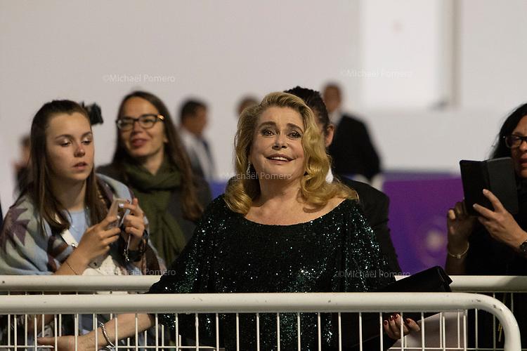 25 Mai 2019 Cannes<br /> <br /> Catherine Deneuve a la soirée de l'Agora après la remise des prix du festival du film.<br /> <br /> Catherine Deneuve at the Agora evening after the film festival awards ceremony