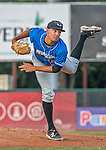 21 July 2016: Hudson Valley Renegades pitcher Brock Burke on the mound against the Vermont Lake Monsters at Centennial Field in Burlington, Vermont. The Lake Monsters edged out the Renegades 4-3 in NY Penn League play. Mandatory Credit: Ed Wolfstein Photo *** RAW (NEF) Image File Available ***