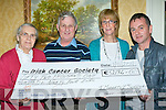 The Killarney and South Kerry branch of the Irish Cancer Society who presented the National Irish Cancer Society a cheque of €52,194 on Tuesday which was raised throughout the year by volunteers in their area l-r: Sr Anna Marie, Tim Moriarty, Kathrina Breen and Eugene O'Sullivan