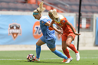 Houston, TX - The Houston Dash defeated the Chicago Red Stars 2-0 on Saturday April 15, 2017: Julie Ertz, Rachel Daly during a regular season National Women's Soccer League (NWSL) match at BBVA Compass Stadium.