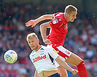 Preston North End's Jayden Stockley battles with Nottingham Forest's Michael Dawson<br /> <br /> Photographer David Shipman/CameraSport<br /> <br /> The EFL Sky Bet Championship - Nottingham Forest v Preston North End - Saturday 31st August 2019 - The City Ground - Nottingham<br /> <br /> World Copyright © 2019 CameraSport. All rights reserved. 43 Linden Ave. Countesthorpe. Leicester. England. LE8 5PG - Tel: +44 (0) 116 277 4147 - admin@camerasport.com - www.camerasport.com