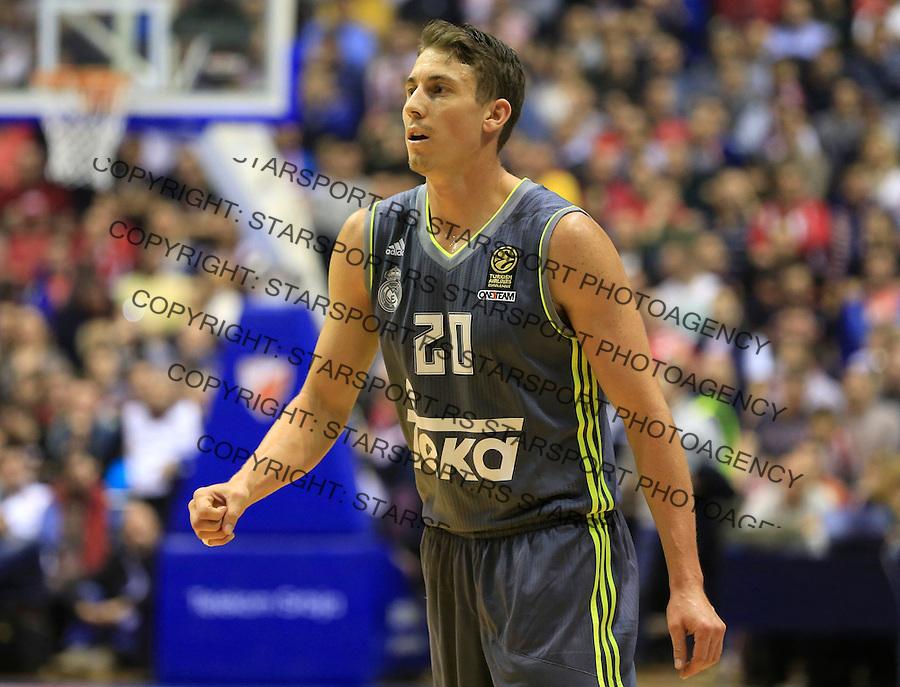 Kosarka Euroleague season 2015-2016<br /> Euroleague <br /> Crvena Zvezda v Real Madrid<br /> Jaycee Carroll<br /> Beograd, 27.11.2015.<br /> foto: Srdjan Stevanovic/Starsportphoto &copy;