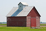 Red barn (corn crib), rural Ill.