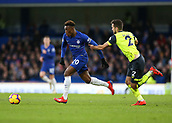 2nd February 2019, Stamford Bridge, London, England; EPL Premier League football, Chelsea versus Huddersfield Town; Tommy Smith of Huddersfield Town pulls back Callum Hudson-Odoi of Chelsea to commit a foul to Chelsea