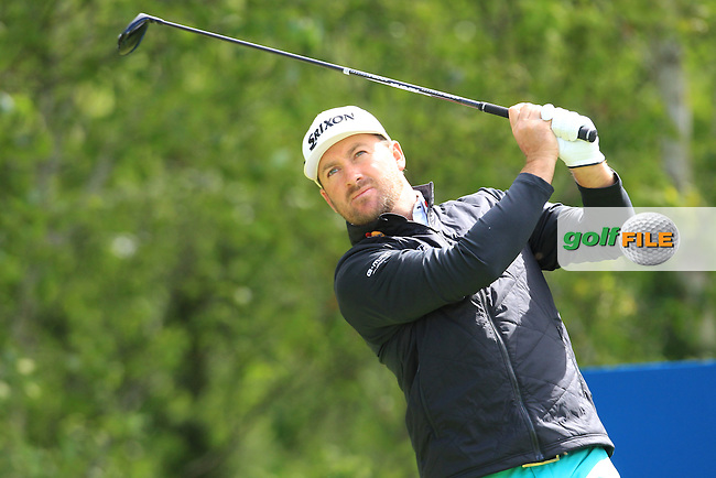Graeme McDowell (NIR) on the 2nd tee during Saturday's Round 3 of the 2016 Dubai Duty Free Irish Open Hosted by The Rory Foundation which is played at the K Club Golf Resort, Straffan, Co. Kildare, Ireland. 21/05/2016. Picture Golffile   TJ Caffrey.<br /> <br /> All photo usage must display a mandatory copyright credit as: &copy; Golffile   TJ Caffrey.