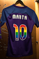 Orlando, FL - Saturday June 24, 2017: Marta's Jersey before a regular season National Women's Soccer League (NWSL) match between the Orlando Pride and the Houston Dash at Orlando City Stadium.