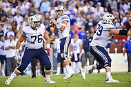 Landover, MD - SEPT 24, 2016: BYU Cougars quarterback Taysom Hill (7) in action during their match up against West Virginia at FedEx Field, Landover, MD. (Photo by Phil Peters/Media Images International)