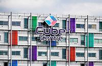 Nederland  Almere- 2019.  Cube Centre. Kantoren.   Foto Berlinda van Dam / Hollandse Hoogte