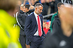 Cardiff - UK - 9th September :<br />Wales v Belarus Friendly match at Cardiff City Stadium.<br />Wales Manager Ryan Giggs ahead of kick off.<br />Editorial use only