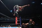 Tama Tonga, Tanga Loa vs Juice Robinson, David Finlay during the IWGP Heavyweight Tag Team Championship Match New Japan Pro-Wrestling Wrestle Kingdom 14 at Tokyo Dome on January 4, 2020 in Tokyo, Japan. (Photo by New Japan Pro-Wrestling/AFLO)