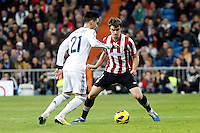 Real Madrid CF vs Athletic Club de Bilbao (5-1) at Santiago Bernabeu stadium. The picture shows Jose Callejon and Jon Aurtenetxe. November 17, 2012. (ALTERPHOTOS/Caro Marin) NortePhoto