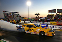 Sep 27, 2013; Madison, IL, USA; NHRA pro stock driver Jeg Coughlin during qualifying for the Midwest Nationals at Gateway Motorsports Park. Mandatory Credit: Mark J. Rebilas-