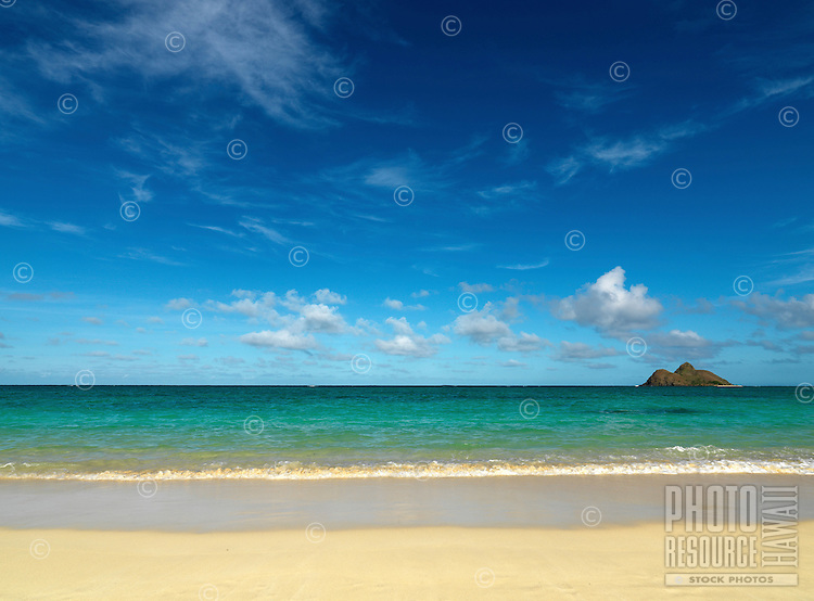 North Mokulua Island off of Lanikai Beach, O'ahu.