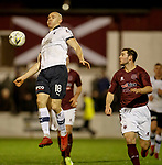 22.11.2019 Linlithgow Rose v Falkirk: Conor Sammon controls the ball as Falkirk attack