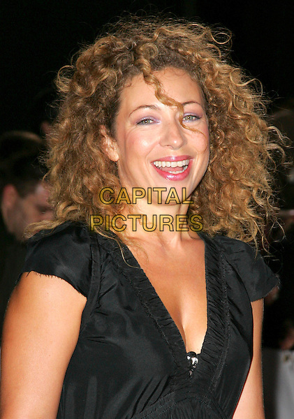 ALEX KINGSTON.National Movie Awards held at the Royal Festival Hall, London, England,..September 28th 2007.headshot portrait black .CAP/ROS.©Steve Ross/Capital Pictures
